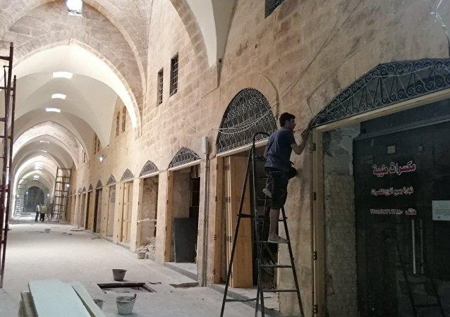 أقدم مطاعم طريق الحرير.. سوق السقطية بحلب تعود كما كانت قبل 1000 عام