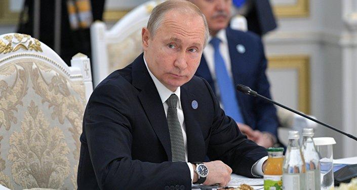 فلاديمير بوتين في اجتماع شنغهاي