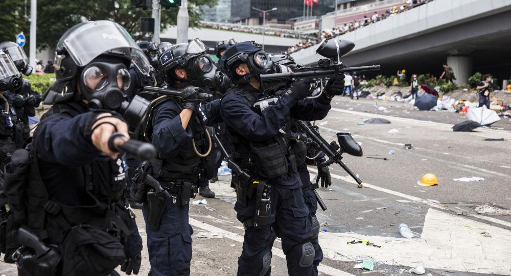 احتجاجات في هونغ كونغ ضد قانون تسليم المطلوبين إلى الصين، 12 يونيو/ حزيران 2019