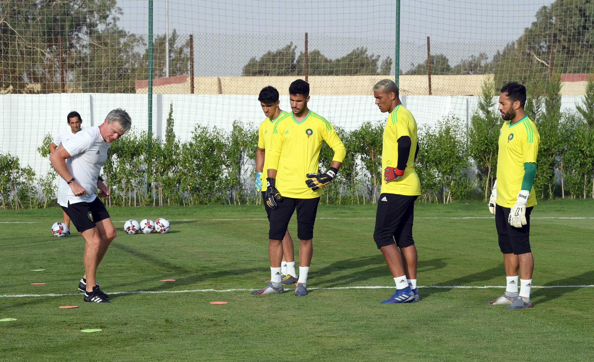تدريبات المنتخب المغربي بملعب حرس الحدود
