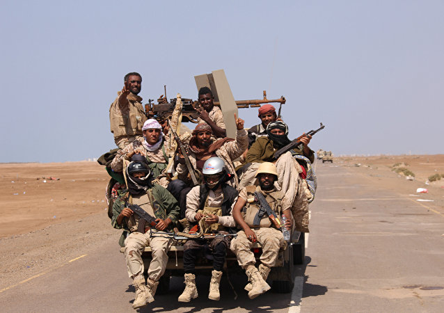 الجيش اليمني - القوات اليمنية بالقرب من ميدنة المخا، البحر الأحمر، اليمن 23 يناير/ كانون الثاني 2017