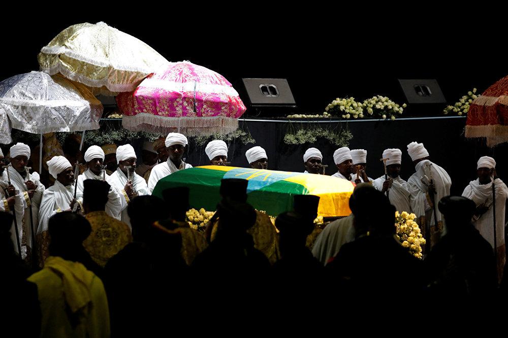 جانب من جنازة رئيس أركان الجيش الإثيوبي