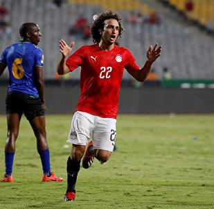 عمرو وردة لاعب منتخب مصر لكرة القدم ونادي أتروميتوس اليوناني