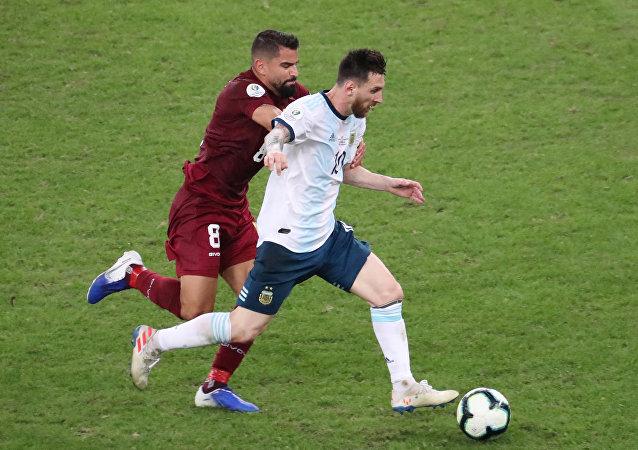 مباراة الأرجنتين وفنزويلا - ليونيل ميسي