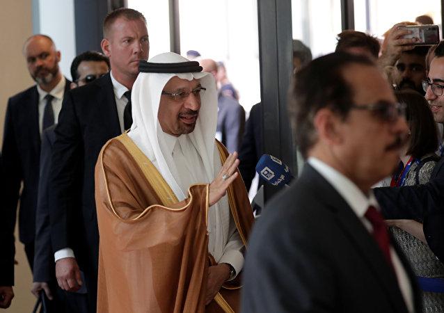 وزير النفط السعودي خالد الفالح يصل إلى مقر أوبك في فيينا