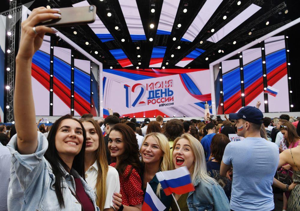فعالية احتفالية في الساحة الحمراء بمناسبة يوم روسيا:، 12 يونيو/ حزيران 2019