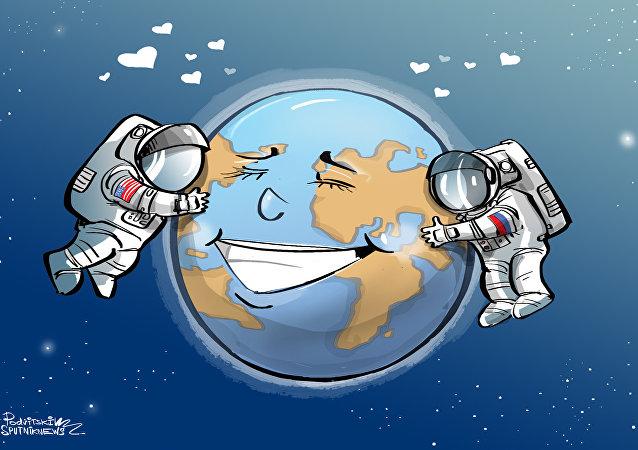 رائدا فضاء روسي وأمريكي سيقومان برحلة فضاء حول الأرض