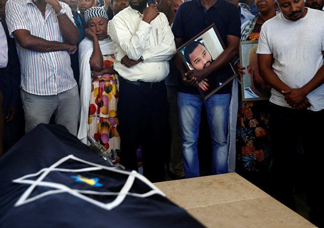 جنازة سولومون تيكاه في حيفا