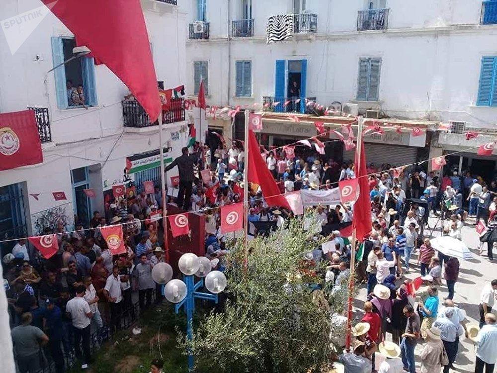 مسيرة تونسية ضد صفقة القرن