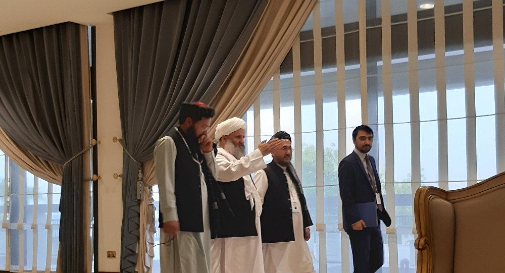 وفد طالبان في مؤتمر الدوحة للسلام