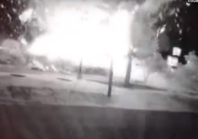 انفجار فرع كنتاكي في ولاية كارولاينا الشمالية الأمريكية
