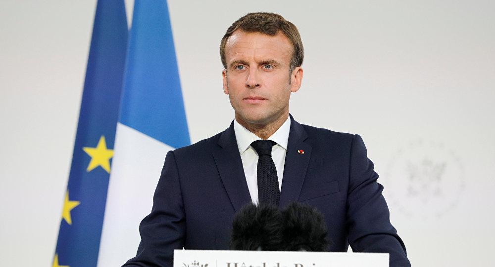 الرئيس الفرنسي إيمانويل ماكرون عشية احتفالات اليوم الوطني في فرنسا، 13 يوليو/تموز 2019