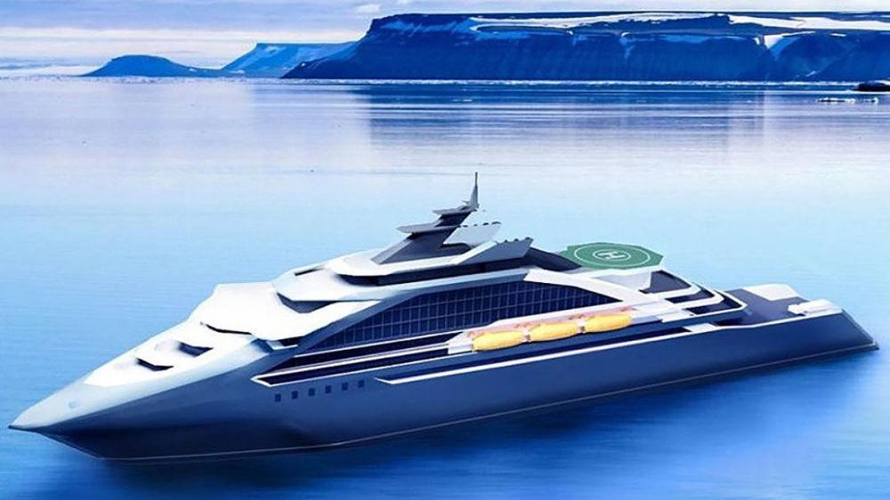 سيكون لدى هيكل السفينة السياحية خصائص مشتركة مع كاسحات الجليد. سيتم توفير الدفع للسفينةعن طريق رفاص السفينة () الذي سيعطي مجال كبير للمناورة وتحديد المواقع الديناميكية. كما سيتوفر مهبط للقارب لطائرات الهليكوبتر.