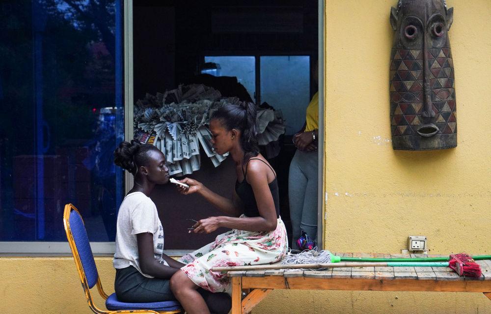 المتسابقات في مسابقة ملكة جمال جنوب السودان في جوبا