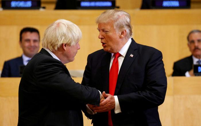 ترامب: الولايات المتحدة وبريطانيا تتحركان بسرعة نحو اتفاقية تجارية
