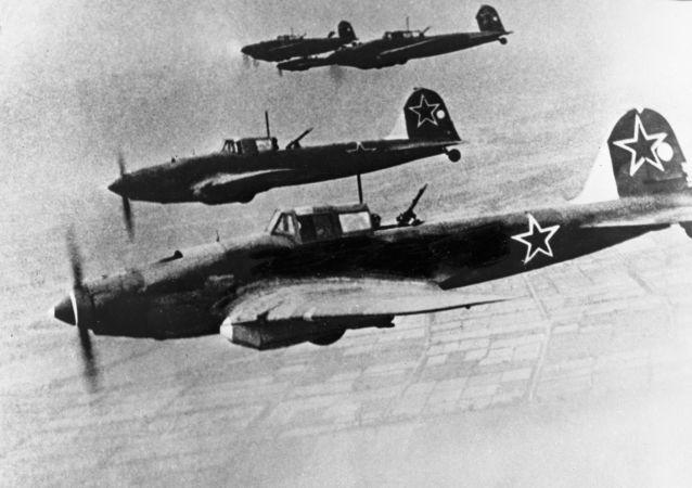 طائرات سوفيتية فوق برلين