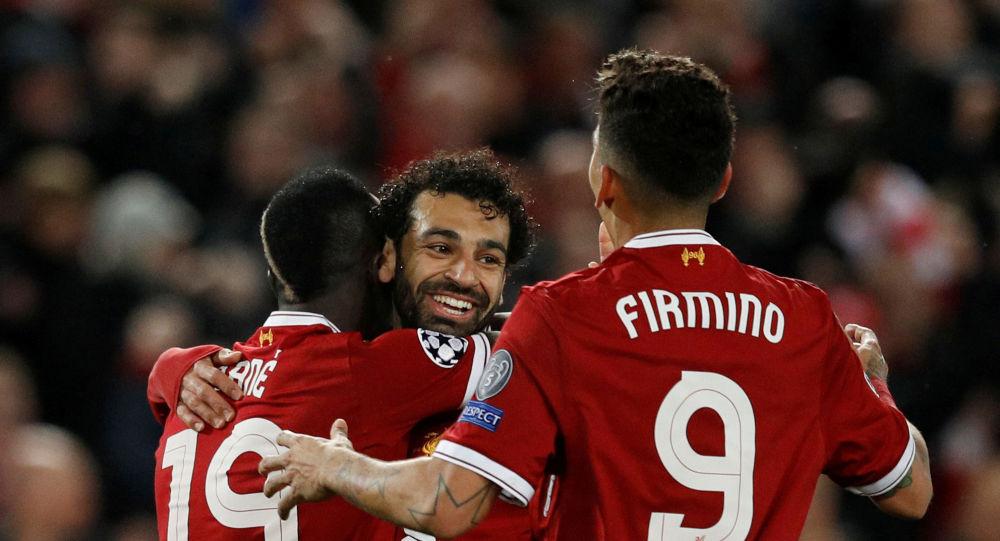 نجوم ليفربول محمد صلاح وفريمينيو وساديو ماني