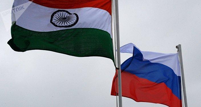 العلم الهندي و الروسي