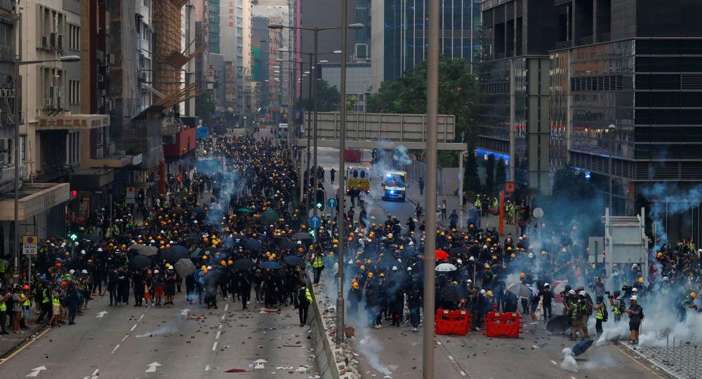 مظاهرات في هونغ كونغ