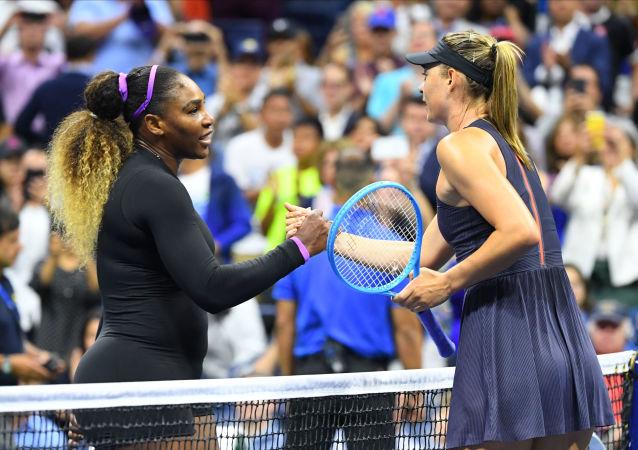 سيرينا وليامز وماريا شارابوفا في بطولة أمريكا المفتوحة