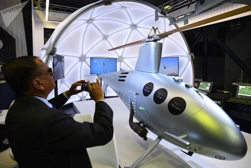 طائرة مسيرة على شكل مروحية كا2 (كليون) - معرض ماكس 2019 للطيران الجوي في مطار جوكوفسكي في ضواحي موسكو، 27 أغسطس/ آب 2019