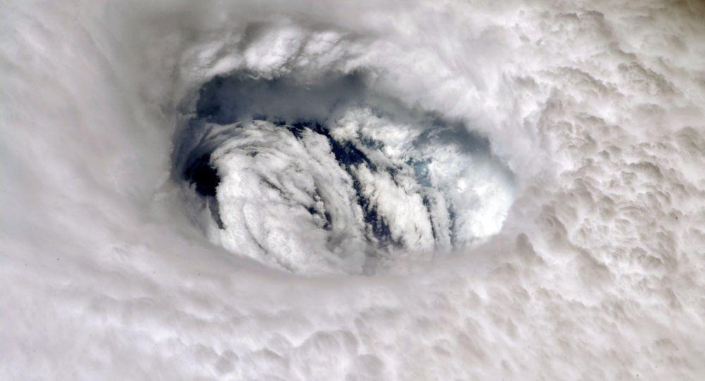 صورة لإعصار دوريان من محطة الفضاء الدولية، 2 سبتمبر 2019