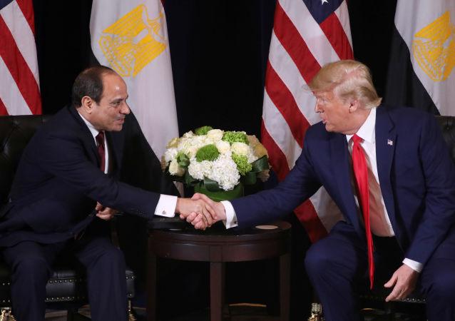 الرئيس الأمريكي دونالد ترامب يلتقي الرئيس المصري في نيويورك