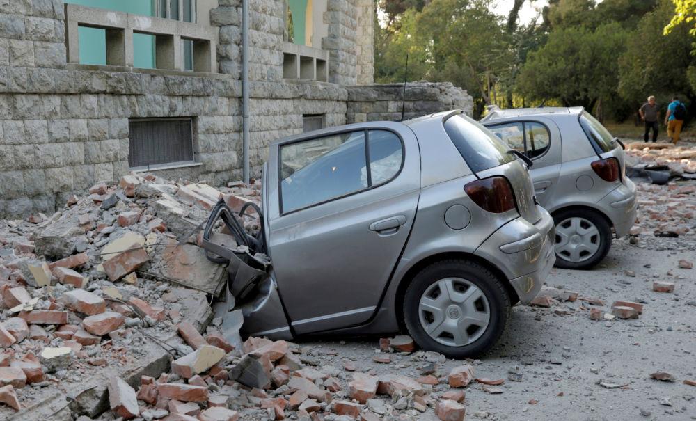 تداعيات زلزال في تيرانا، ألبانيا 21 سبتمبر 2019