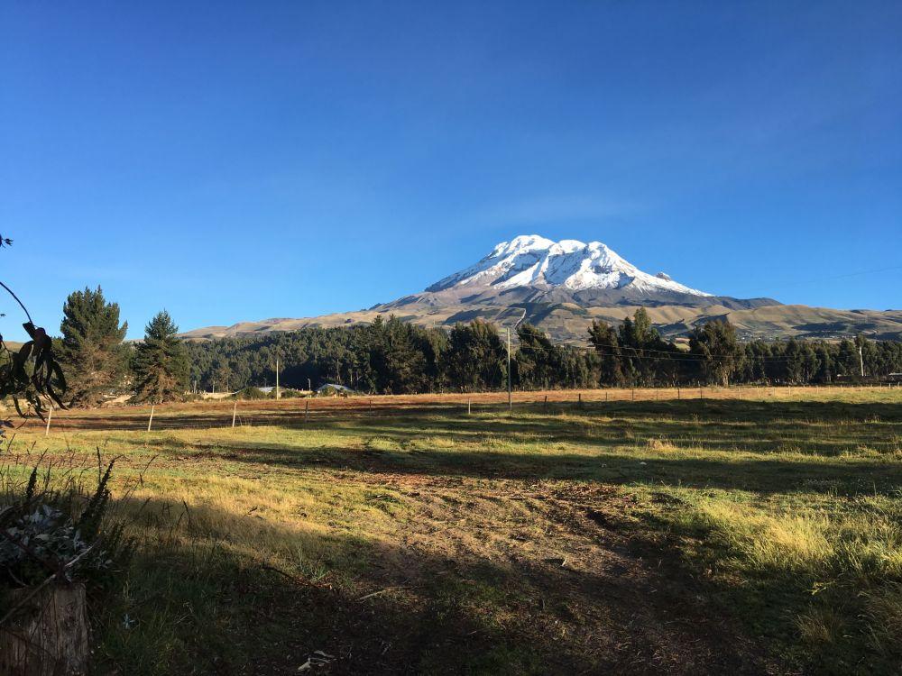 بركان تشيمبورازو في أعلى قمة في الإكوادور