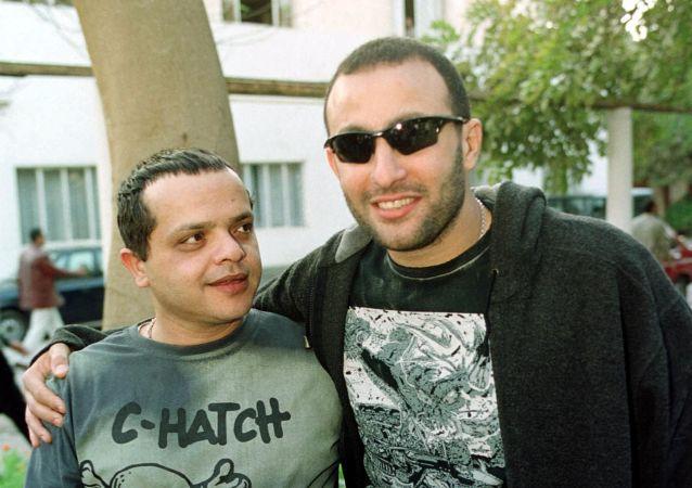 الفنانان المصريان أحمد السقا ومحمد هنيدي