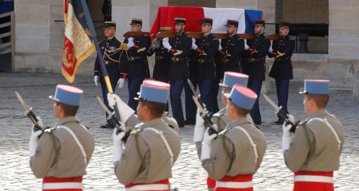 جنازة الرئيس الفرنسي الأسبق الراحل جاك شيراك في باريس، فرنسا 30 سبتمبر 2019