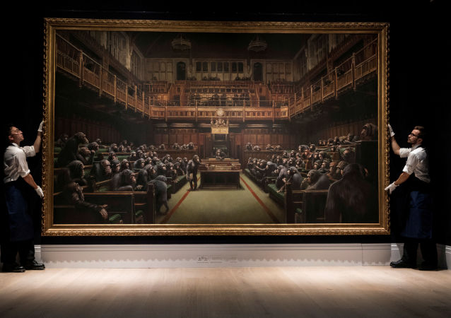 لوحة البرلمان المتخلف لبانكسي