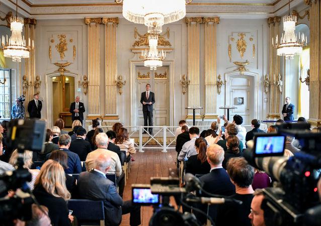حفل توزيع جوائز نوبل للآداب لعام 2019 في ستولكهوم، السويد 10 أكتوبر 2019