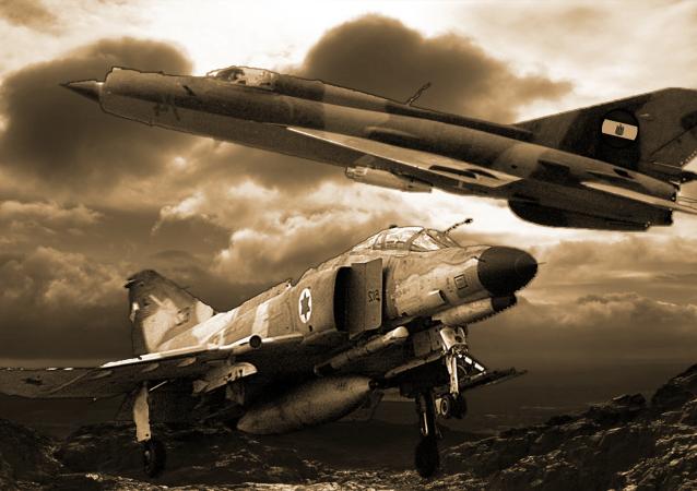 طائرة فانتوم 4 الإسرائيلية وميغ 21 المصرية