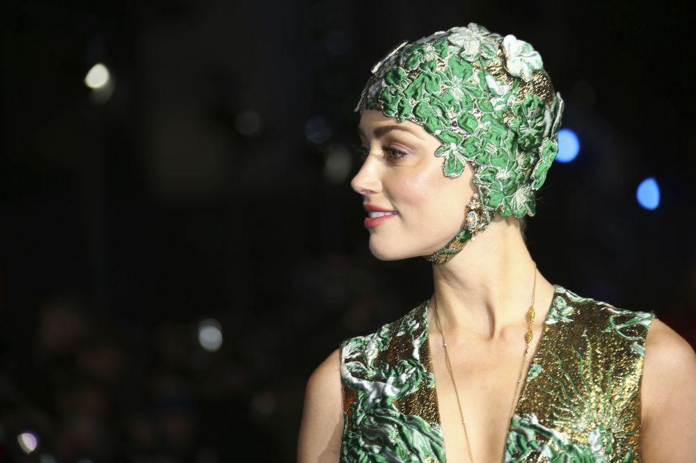 الممثلة الأمريكية آمبير هيرد في العرض الأول لفيلم أكوامان (Aquaman) في لندن، بريطانيا 2018