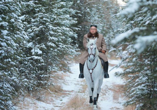 زعيم كوريا الشمالية يركب حصانا أبيضا ويصعد جبل بايكتو المغطى بالثلوج والذي يعتبر من الأماكن المقدسة في شبه الجزيرة الكورية، 16 أكتوبر 2019