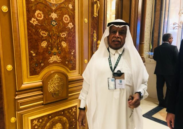 المهندس مبارك بن عبد الله الخفرة، رئيس مجلس إدارة شركة التصنيع والصحراء للأوليفينات السعودية، القاهرة، 29 أكتوبر/تشرين الأول 2019