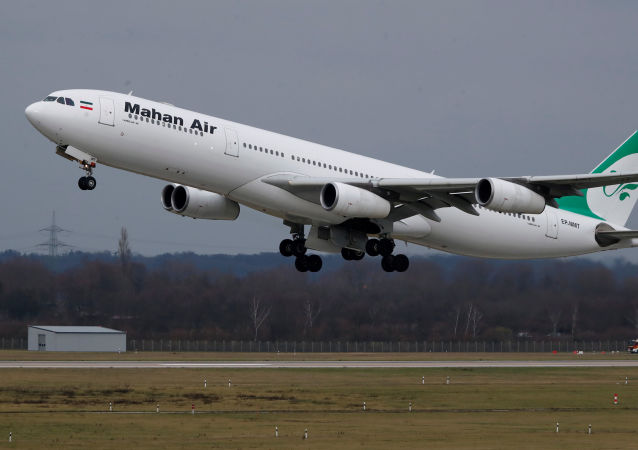 طائرة تابعة لخطوط طيران ماهان إير الإيراني