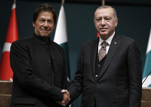 الرئيس التركي رجب طيب أردوغان ورئيس الوزراء الباكستاني عمران خان