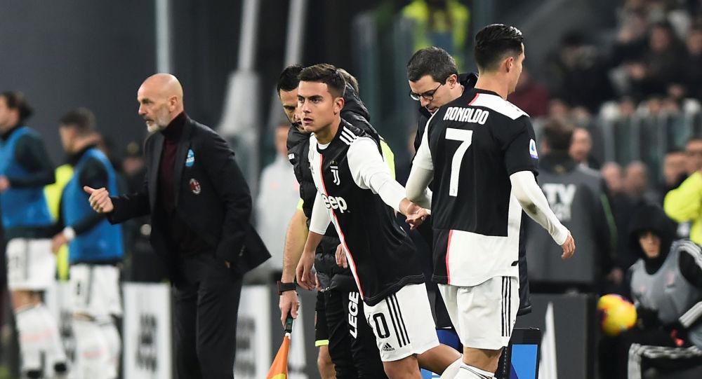 رونالدو يغادر ملعب مباراة يوفنتوس وميلان