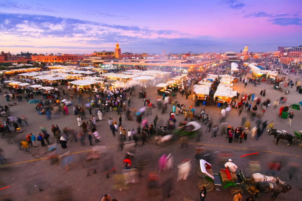 ساحة جامع الفنا في مراكش، المغرب