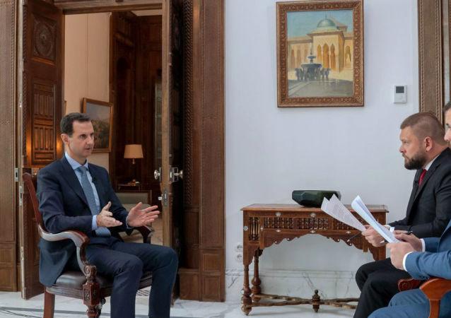 مقابلة السيد الرئيس بشار الأسد مع قناة روسيا 24– و وكالة سبوتينك