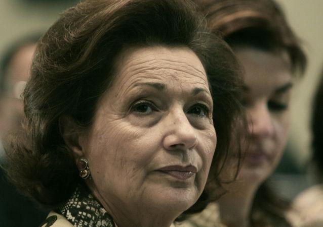 سوزان مبارك، زوجة الرئيس المصري الأسبق محمد حسني مبارك