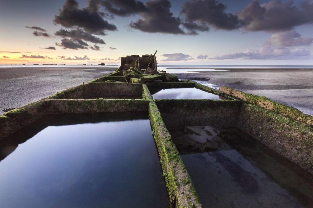 صورة لـميناء مولبيري في بريطانيا، للمصور ستيفان هوريل، التي فازت في مسابقة التصوير التاريخي لعام 2019