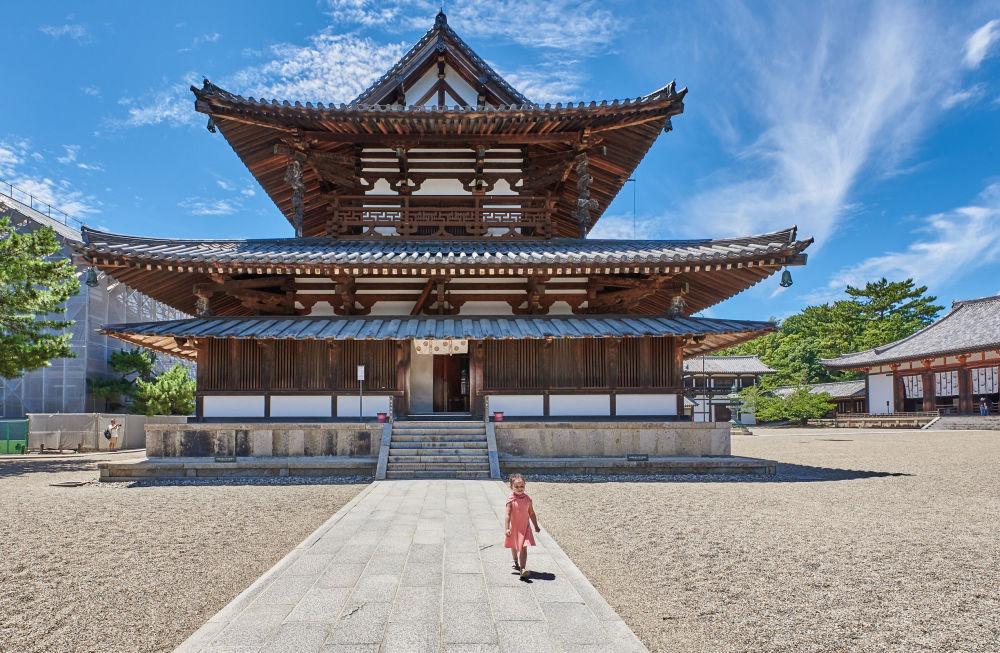 صورة لـمعبد هوريو-جي في اليابان، للمصور سارة راولينسون، التي وصلت إلى نهائي مسابقة التصوير التاريخي لعام 2019