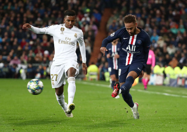 مباراة ريال مدريد الإسباني مع نظيره باريس سان جيرمان الفرنسي (2-2) في دوري أبطال أوروبا