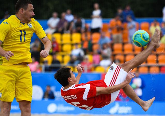 كرة مقصية روسيا كرة قدم شاطئية