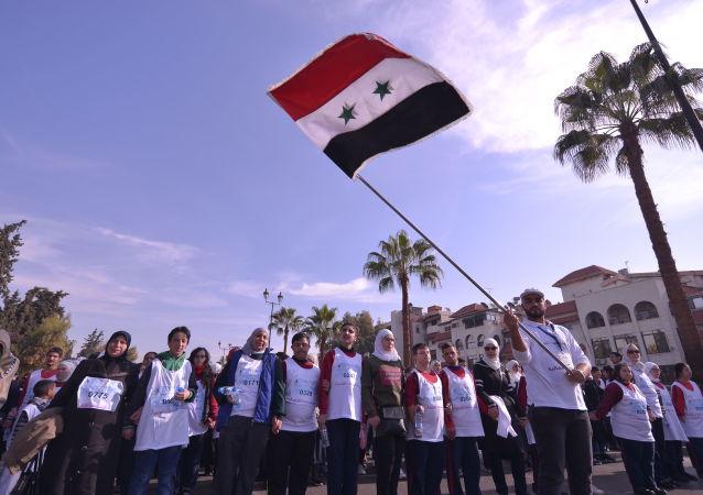 ماراتون لذوي الاحتياجات الخاصة وسط دمشق: شركاء بالنصر السوري