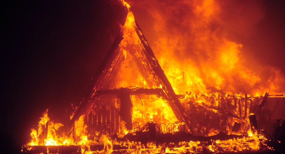 حريق منزل