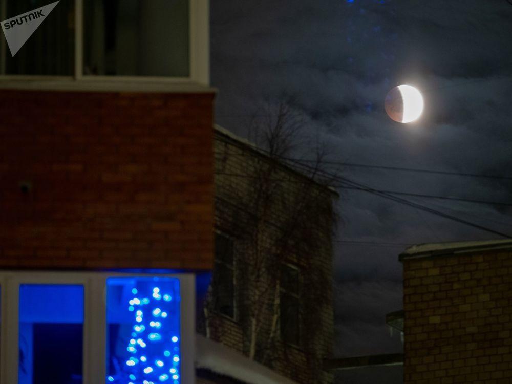 خسوف القمر في كاريليا الروسية
